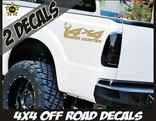 4x4 Truck Decal Set, Deer Hunter, METALLIC GOLD for Ford Super Duty F-250 etc