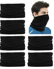 [3 Pack] Multi Use Infinity Scarf Tube Bandana Black Head Face Cover USA