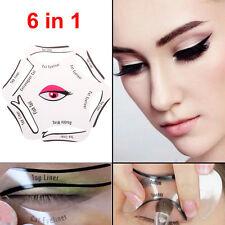 Eye-liner 6 en 1 Chat Ensemble Pochoir Maquillage Guide Rapide Outil Liquide