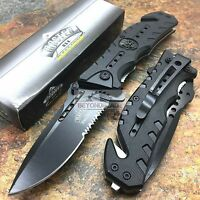 MASTER USA Black Skull Tactical Hunting Rescue Folding Pocket Knife MU-A010BK