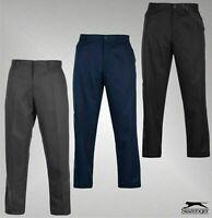 Mens Slazenger Regular Pockets Bottoms Golf Trousers Sizes Waist from 28 to 48