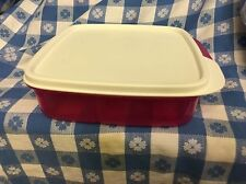 Tupperware GRAB & GO Lunch-It Container LUNCH BOX pink/white Divided DishSNACKS