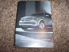 2013 Lincoln Navigator Owner Owner's User Guide Operator Manual L 5.4L V8