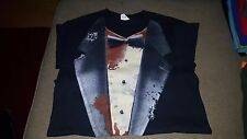 Zombie Walking Undead Tuxedo T-Shirt Men's S Small Gildan 100% Cotton