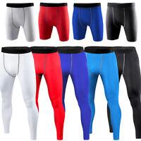 Men Compression Sports Skins Tights Running Gym Baselayer Short Long Pants S-2XL