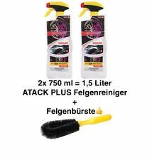 2x Flasche ATACK PLUS Felgenreiniger Reinigung 750ml= 1,5 Liter + Felgenbürste????