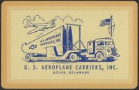 Playing Cards Single Card Old US AEROPLANE CARRIERS Advertising TRUCK TRAILER 1