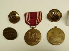WW2 US MILITARY BADGE PIN RIBBON MEDAL UNIFORM PINS LOT -#71