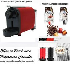 La Cucina Nespresso style Capsule Coffee Frappe shakes matching Milk Frother +10
