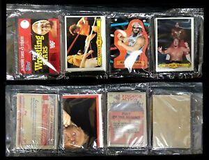 1985 Topps Wresting Stars Rack Pack - Jesse Ventura Sticker; Andre the Giant Top