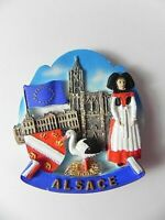 Elsass Frankreich France Souvenir Magnet Poly 3D Optik,7 cm Fridge,neu