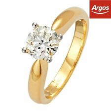 Solitaire Excellent Cut White Gold I1 Fine Diamond Rings