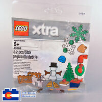 LEGO 40368 XTRA Christmas ACCESSORIES POLYBAG Brand New NIB Snowman Tree Husky