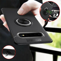 For Samsung Galaxy S10 Plus S10E Magnetic Ring Holder + Metal Hybrid Case Cover