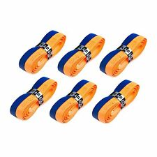 6 x Karakal Super DUO Replacement Grips Orange/Dark Blue Tennis Squash Badminton