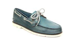 Sperry Top-Sider Men's Leeward 2-Eye Blue Boat Shoe