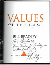 Values of the Game - Signed + Inscr. by Bill Bradley - First Edition Basketball
