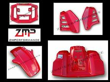 NEW MAIER HONDA ATC250R 85 FIGHTING RED FRONT AND REAR FENDER COMPLETE SET 1985