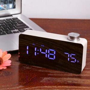 Digital Spiegel Wecker Alarm Alarmwecker LED Beleuchtet Tischuhr Snooze Alarm DE