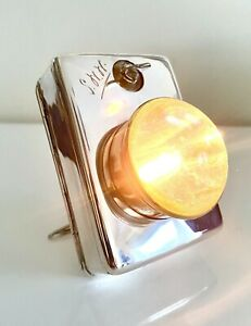WW2 SOLID SILVER 1939 OFFICERS PORTABLE DESK LAMP LIGHT WORKING HALLMARK LE