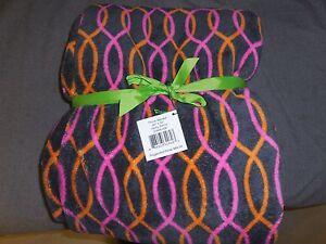 Vera Bradley Jazzy Blooms Swirls Fleece Throw Blanket #12408-256 new