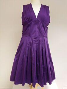 Ted Baker Size 14 Approx Stunning Purple Party Dress Pockets Net Underskirt xmas
