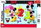 Trefl 15 PEZZI BAMBINI BIMBI UNISEX Mickey Minnie Mouse Telaio pavimento Puzzle