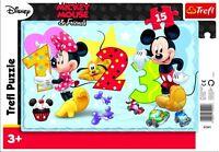 Trefl 15 Piece Baby Kids Unisex Mickey Minnie Mouse Frame Floor Jigsaw Puzzle
