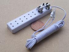 1:12 Scale 6 Socket Con Fusible Iluminación Tiras Casa de muñecas en miniatura Luz Accesorio