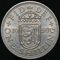 1959 | Elizabeth II 'Scottish' One Shilling | Cupro-Nickel | Coins | KM Coins