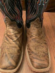 Men's Anderson Bean Cowboy Boot 9 M Zebra Pre Owned