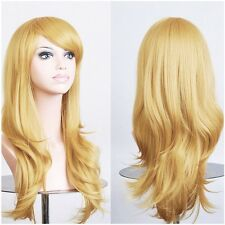 Cheap Price Ladies Anime Wig Cosplay Full Wig Fancy Dress Wig White Blonde Pink