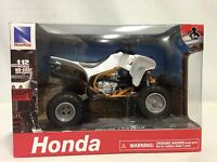"Honda TRX450R ATV, Suspension 1:12  Scale 6"" Die Cast Replicas New Ray Toy White"