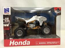 "Honda TRX450R ATV, Suspension 1:12  Scale 6"" Die Cast Replicas New Ray Toy White"