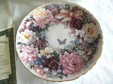 BRADFORD EXCHANGE LT ED PLATE FIRST ISSUE CIRCLE OF LOVE LENA LIU BUTTERFLY COA