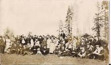 Huge Gathering Young Men & Women Tam/Driving Caps Pit Bull Dog Antique Photo