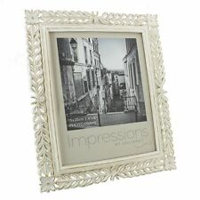 """Classical Antique White Resin Photo Frame 6x8""""  NEW  24418"""