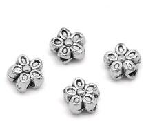 50PCs Perles Intercalaires Fleur 5 Pétales 7mm dia.