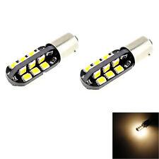 2PCS BA9S T4W 24-2835 Warm White 3000K LED Light Bulb for Car DC 12V