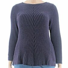 Sweater 3x Plus Style&Co $57 NWT Dark Grape Pullover Ribbed Long Sleeve MC239 ❤