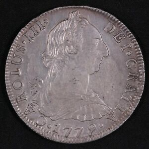 Bolivia 1779-PTS PR 8 Reales KM# 55 Calico-1176 World Silver Coin