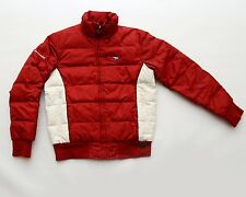 Abercrombie Puffer Down Filled Jacket Red White Women Size Junior Large