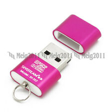 Pink Mini USB2.0 High speed Memory Card Reader for Micro SD Micro SDHC T-Flash