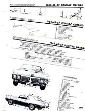 1967 1968 1969 PONTIAC FIREBIRD MOTORS BODY PART ORIGINAL CRASH ILLUSTRATIONS M2