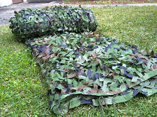Woodland Camouflage Netting Military Camo Hunting Cover Net Backing 16 x 16 feet