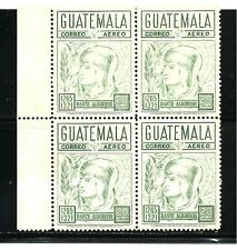 Guatelmala Stamps- Scott # C438/Ap84-20c-Mint/Nh-196 9-Air Postal-Plate of 4