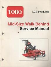 Printed 2004 TORO MID-SIZE WALK BEHIND  TRACTOR SERVICE MANUALP/N 492-9141 (101)