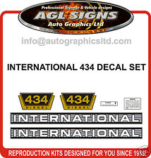 INTERNATIONAL 434 DIESEL TRACTOR DECAL SET, reprocduction
