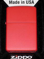 Zippo cigarette lighter Regular Red Matte Made in USA United States NEW