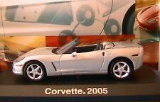 CHEVROLET CORVETTE C6 CONVERTIBLE MACHINE 2005 NOREV 900001 1/43 SILVER SILBER